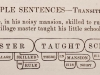 Clark\'s Simple Transitive Sentences 1875